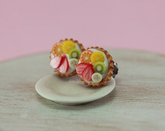 Fruit Tart Studs / Post Earrings