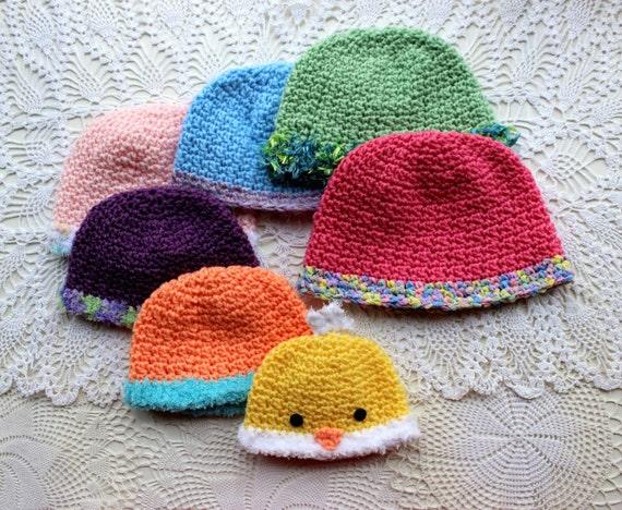 Newborn Crochet Chicken Hat Pattern : Crochet Hat Pattern Crochet Chicken Hat by PatternsByKrissy