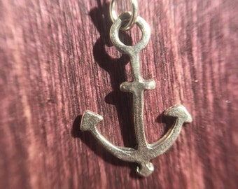 Anchor Necklace Sterling Silver - Ready to Ship