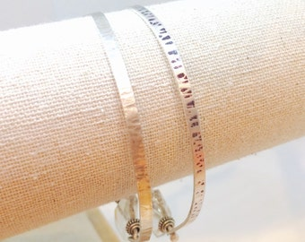 Hand stamped Sterling Bangles