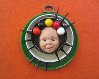Goof Ball - Upcycled Doll Art Assemblage