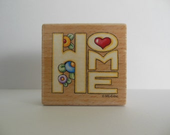 Home Rubber Stamp - Wood Mounted Rubber Stamp