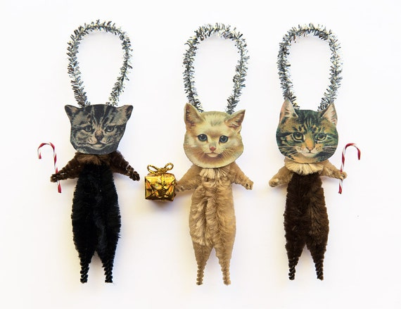Cat Christmas Tree Ornaments Stocking Stuffer Under 25 Pet