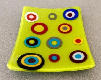 Medium Serving Platter/Dish-Funky Polka Dots