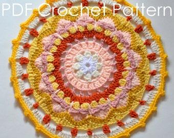 Sun Mandala Crochet PDF Pattern