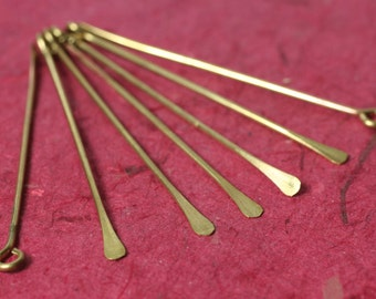 "Solid brass stick dangle 60mm/2.36"" long 16g thick, 6 pcs (item ID 8SRBSL)"