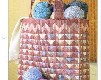 Southwest Tote Bag  ~ plastic canvas pattern ~ Annie's