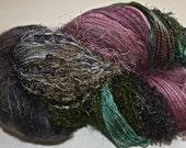 Hand dyed yarn, Biggie, Brandywine colorway, wool, silk, nylon