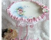 PILLAR Candle Holder Shabby Romantic Chic Roses ecs sct schteam SVFTeam