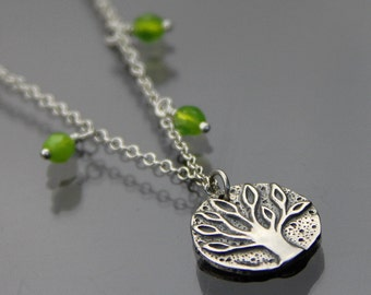 Tree of Life necklace - Nature jewelry - Gift for her - Sterling silver necklace - Nature lover Gift - Botany necklace - Family tree jewelry