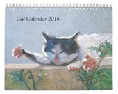 2016 Cat Painting Calendar by KAZUMI Free Shipping