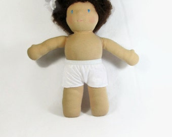Waldorf Doll Clothing, TWO Pairs of Underwear for 10 to 12 inch Waldorf Doll, Boy Style Doll Undies, Doll Briefs