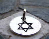 ON SALE Star Of David Charm, PMC Fine Silver