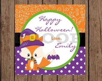 FOX Halloween Favor Tags / Fox Favor Tags / Halloween Fox Favor Tags / Halloween Favor Tags / Halloween Tags / PRINTABLE / U Print