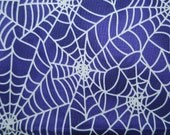 PURPLE HALLOWEEN spider web cotton fabric
