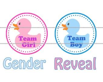 Gender Reveal Ducks, Team Girl Team Boy, Gender Reveal Magnets, Gender Reveal Flatbacks, Gender Reveal Favors, Gender Reveal Pins,
