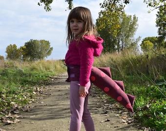 Purple with Pink Polka Dot Dragon/Dinosaur Tail Costume