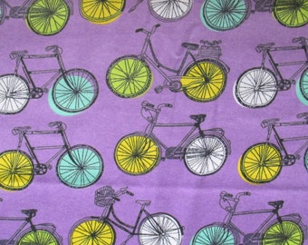 Cotton flannel - bikes - bicycles - 1 yard