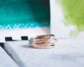 Stacking Ring Set, Thin Bands  {14k Gold Fill}