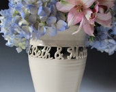 Personalized Wedding Gift - Handmade Vase for Wedding, Anniversary - 2 names & date - Wedding Vase