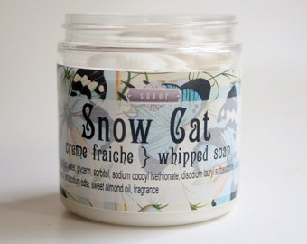 Berry Scented Soap Snow Cat 8 oz Creme Fraiche Whipped Soap VEGAN