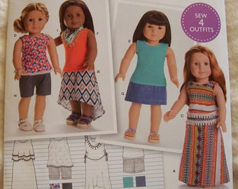 American Girl Doll Clothes Pattern, Simplicity 0170, AG Doll Clothes, 18 Inch Doll Clothes Pattern, Simplicity 8040