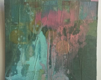 Abstract painting: seaside at night