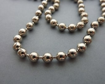 Two SIlver Brass Ball Chain Necklaces 18 in