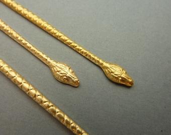 2 Brass Snake Findings for Ring
