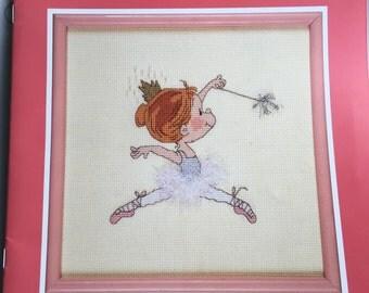 Vintage Cross Stitch Guide, Prima Ballerinas, Ballerina Cross Stitch Guide, Heritage Series Cross Stitch, Kidslinks Series