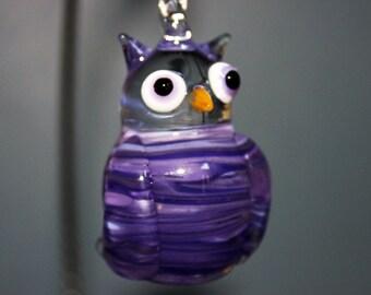 Purple Owl ornament