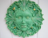 Green Lady - Green Man - Outdoor Decor - Art - Earthy - Zodiac - Virgo - Taurus - Capricorn - Mother Nature - Goddess - Feminist Art - Gift