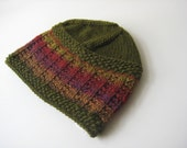 green hat knit cap mans hat