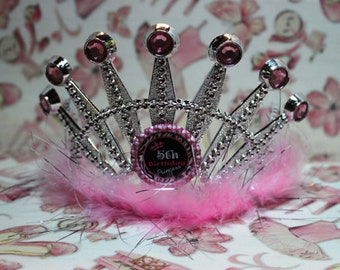 Pink Frou Frou Mariboa Number 1st 2nd 3rd 4th 5th 6th 7th 8th 9th 10th Birthday Girl Tiara Crown