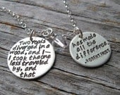 Road Less Traveled, Robert Frost Necklace