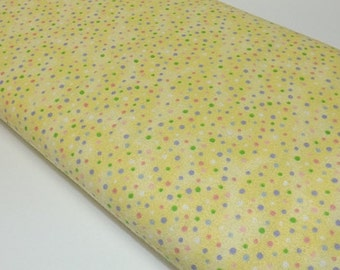 Kiddy Flannel Baby Girl Boy Yellow Dots  Quilting Sewing Fabric Quilters Davids Textiles Flannel Sewing Fabrics