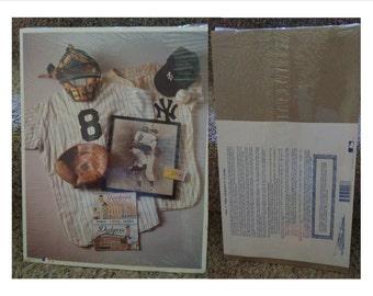 "3 Baseball poster MLB Memorabilia Montage 14""x11"" Certified MLB 1st Edition 1993"
