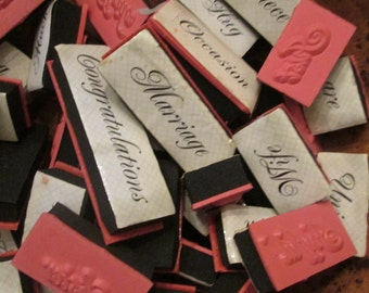 43 Rubber Stampers for Scrapbooking - Family/ Wedding/ Celebration