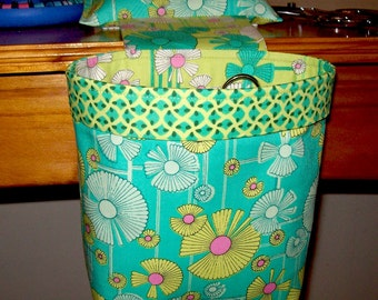 Thread Catcher // Scrap Caddy // Pin Cushion With Rubberized Gripper Strip // Amy Butler // Glow // Wind Flower