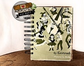Music Makes the World Go 'Round - Wire-Bound Recycled Art Journal