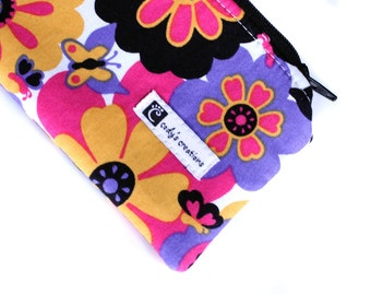The Pouch - A Leash Bag - Flowers and Butterflies