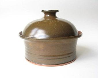 Stoneware Casserole Dish, Pottery Baker, Medium Sized Casserole Dish,