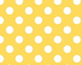 Medium Dots in yellow - by the YARD - Riley Blake