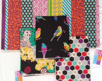 Echino Fabric by Estuko Furuya - 4 Fat Eighths - Bundle 11