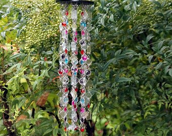 Grace Crystal & Glass Wind Chime, Suncatcher, Gift For Her/Him, Anniversary, Birthday, Wedding, Housewarming, Garden Art, One Of A Kind
