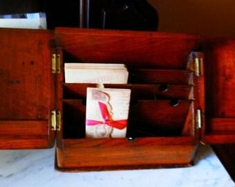 Antique Turn of Century Mahogany  Secretary Box for Rachel