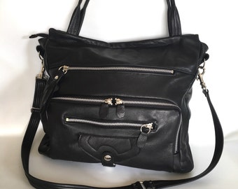 Willow bag in black // silver tone hardware