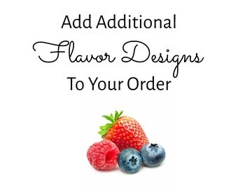 Add additional flavors to your order - Add on Listing