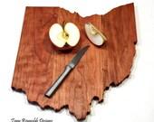 Chopping Block, Custom Cutting Board, Wood Cutting board, Ohio State Cutting Board, Ohio State Buckeye, Home Decor, Housewarming gift