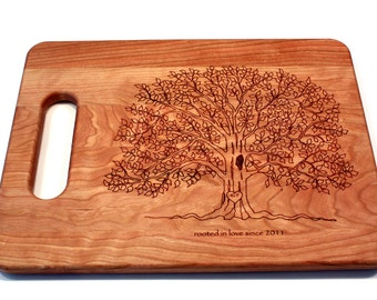 Personalized Cutting Board, Tree Cutting Board, Couple Cutting Board, Custom Cutting Board, Wedding Gift For Couple, Wedding Present